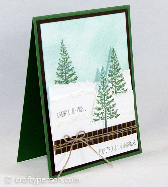 Festival of Trees Bundle by Stampin' Up! - Snowy Technique