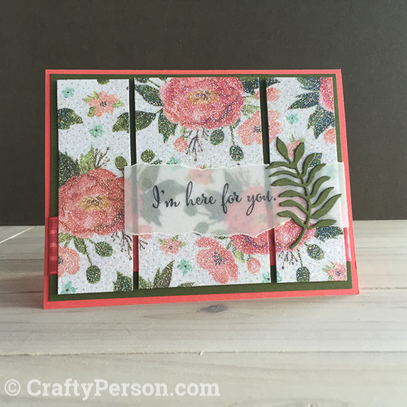 Dazzling Diamond Dust Technique using Stampin' Up! Glitter