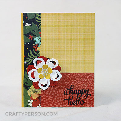 CraftyPerson Stampin' Up! Card Layout - January Sample B
